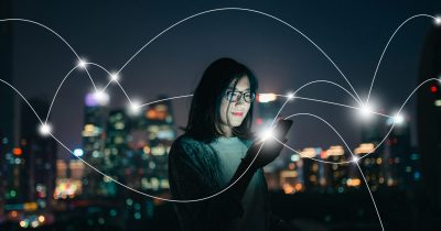 Social Connecting in smart city at Night